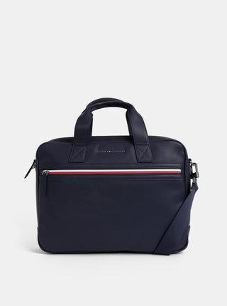 Tmavě modrá taška na notebook Tommy Hilfiger