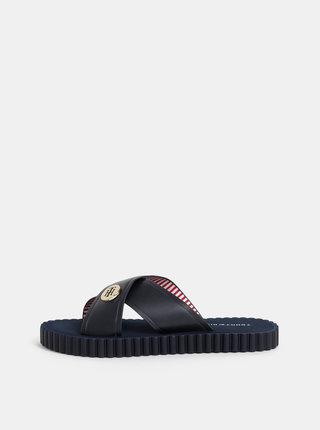 Tmavě modré dámské pantofle Tommy Hilfiger