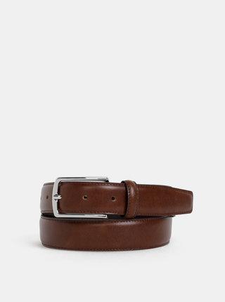 Hnědý kožený pásek Jack & Jones Christopher