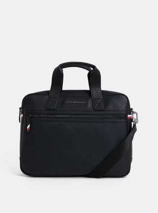 Černá taška na notebook Tommy Hilfiger