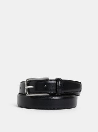 Černý kožený pásek Jack & Jones Christopher
