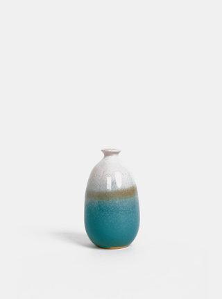 Bielo-modrá váza Sass & Belle