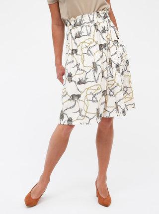 Krémová vzorovaná sukně Haily´s Lola