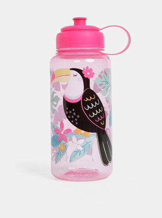 Růžová láhev na vodu Sass & Belle