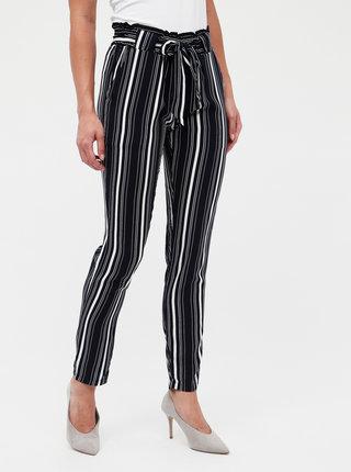 Tmavomodré dámske pruhované nohavice Haily´s Ronja