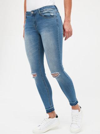Modré dámske skrátené slim fit džíny Haily´s Sarah