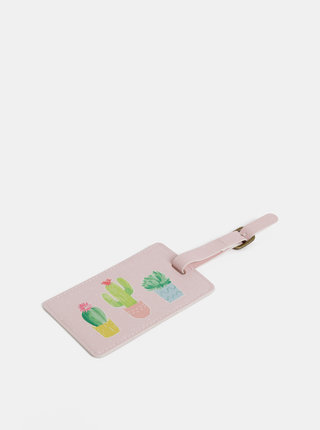 Růžová visačka na kufr Sass & Belle