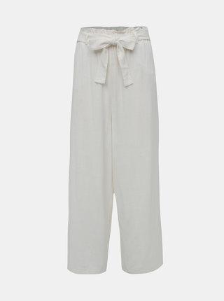 Bílé lněné culottes ONLY Charlie
