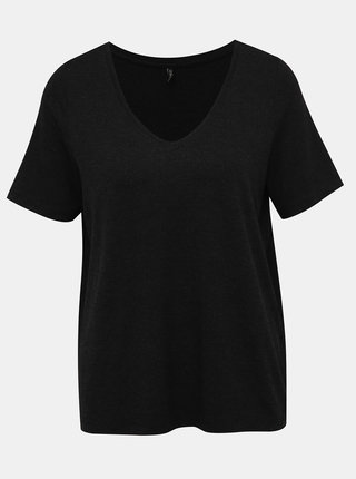 Tmavošedé voľné basic tričko ONLY Moster