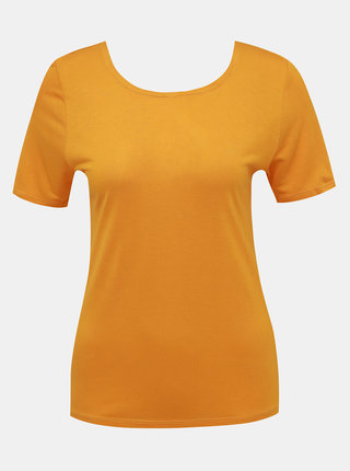 Žluté tričko s pásky na zádech ONLY Carrie