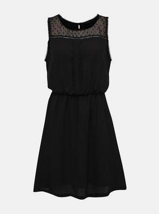 Čierne šaty s ozdobnými detailmi ONLY Cherry