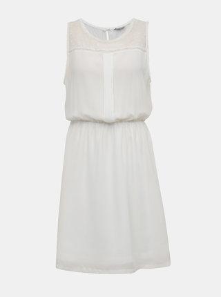 Bílé šaty s ozdobnými detaily ONLY Cherry
