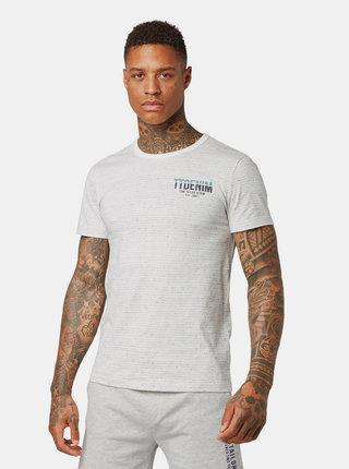 Šedo-krémové pánske vzorované tričko Tom Tailor Denim