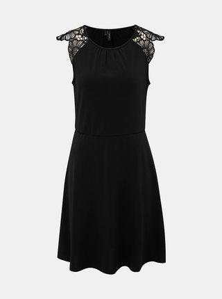 Černé šaty s krajkou VERO MODA Donika