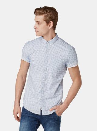 Modrá pánska vzorovaná košeľa Tom Tailor Denim