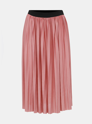 Rúžová plisovaná sukňa Jacqueline de Yong Boa