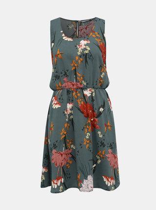 Zelené květovavé šaty ONLY Eleonora