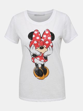 Bílé tričko s potiskem ONLY Mickey