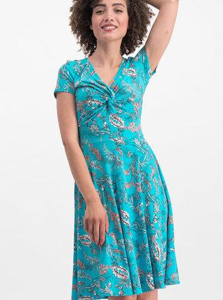 Modré kvetované šaty Blutsgeschwister