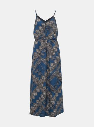Modré vzorované šaty na ramienka ONLY Diana