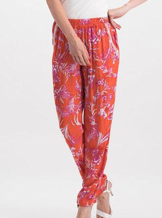 Oranžové kvetované nohavice Blutsgeschwister