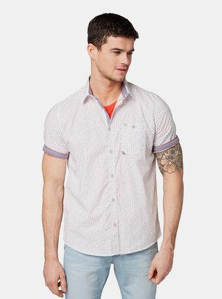 Biela pánska vzorovaná košeľa Tom Tailor