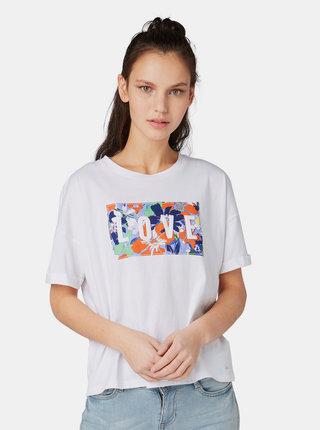 Biele dámske tričko Tom Tailor Denim