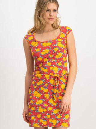 Žluto-červené květované šaty Blutsgeschwister