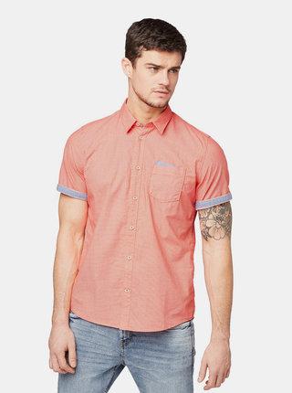 Červená pánska vzorovaná košeľa Tom Tailor