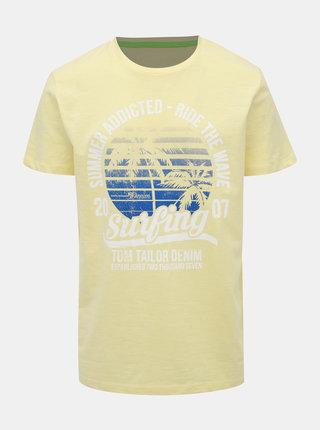 Žlté pánske tričko Tom Tailor Denim