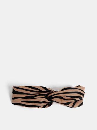 Čierno-hnedá čelenka so zebrím vzorom ONLY Nadia
