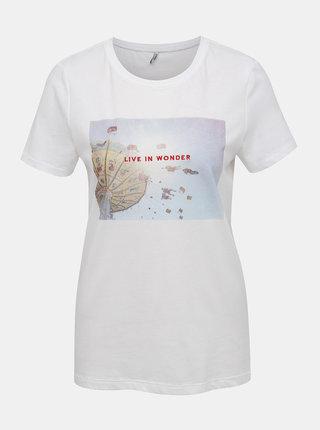 Bílé tričko s potikem ONLY Indre