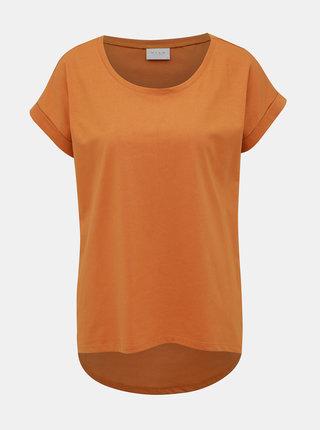 Hořčicové basic tričko VILA Dreamers