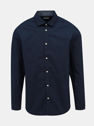 Tmavomodrá slim fit košeľa Selected Homme Mark