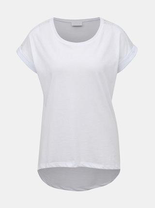 Bílé tričko s krajkou VILA Dreamers