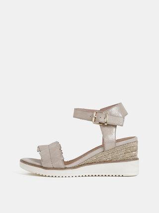 Béžové sandálky na plnom podpätku Tamaris