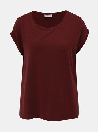 Vínové basic tričko VERO MODA AWARE Ava
