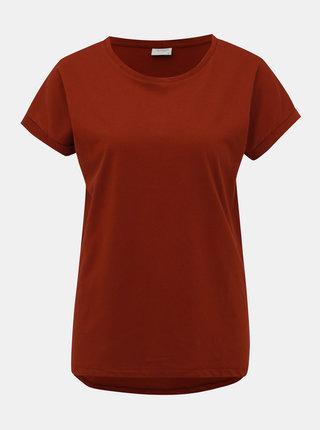 Cihlové basic tričko Jacqueline de Yong Louisa
