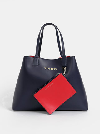 Tmavomodrý shopper s odnímatelným púzdrom 2v1 Tommy Hilfiger Iconic