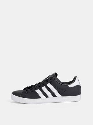 Černé pánské kožené tenisky adidas Originals Coast