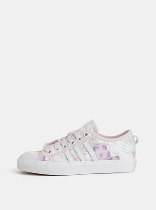 Krémové dámské květované tenisky adidas Originals Nizza