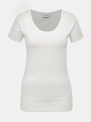 Biele basic tričko Jacqueline de Yong Ava