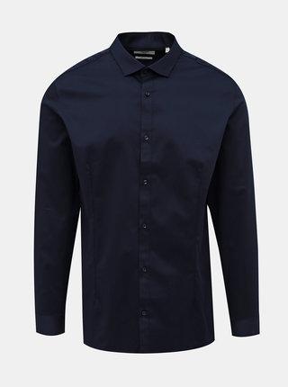 Tmavě modrá slim fit košile Jack & Jones Parma