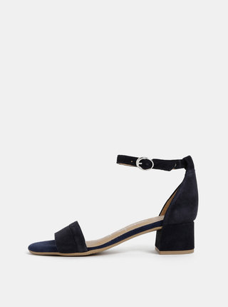 Tmavomodré semišové sandálky Tamaris