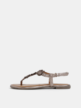 Kožené sandále v bronzovej farbe Tamaris