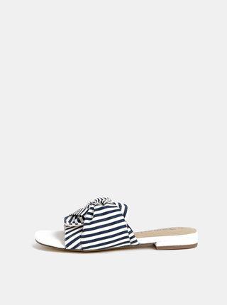 Bílo-modré pruhované pantofle Tamaris