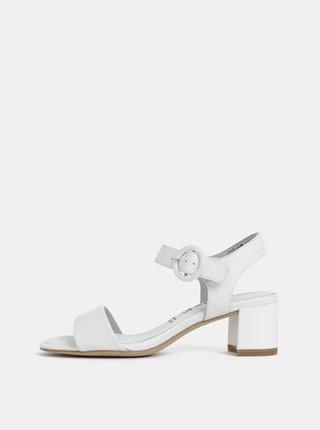 Biele kožené sandálky Tamaris