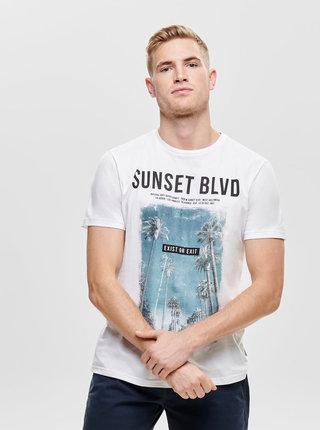 Tricou alb cu imprimeu ONLY & SONS Lamani
