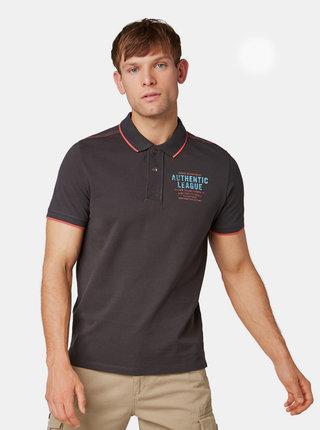 Čierne pánske polo tričko Tom Tailor