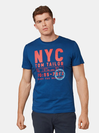 Tmavě modré pánské tričko s potiskem Tom Tailor